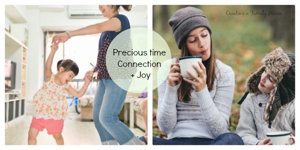 Precious time connection and joy creating a family haven