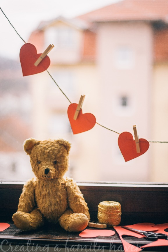teddy hearts Creating a family haven course